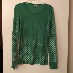 Free People green star thermal long-sleeve! Sz L